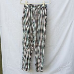 Vintage 70's Checkerboard Plaid Pants Trousers